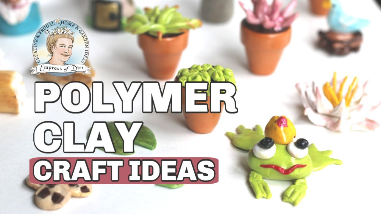 DIY Fairy Garden Decor With Polymer Clay   YouTube