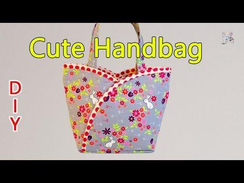 HOW TO MAKE  HANDBAG   CUTE BAG   TOTE BAG DESIGN   DIY BAG     BAG SEWING TUTORIAL   Coudre un sac