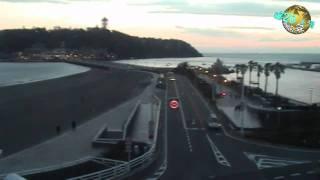 この映像は 江の島の夕暮れ、1時間46分の映像を20倍速で編集 5分00秒で...