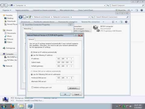 Tutorial Setting LAN Windows 7 As A Server