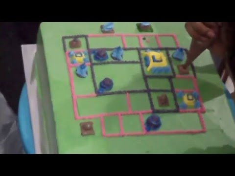 How to Make Clash of Clans Birthday Cake