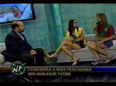 Karla Chavez en Programa Noche de Futbol
