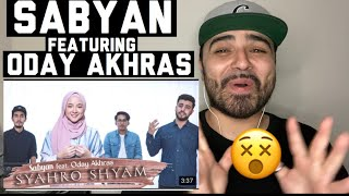 Download Lagu Reacting to SABYAN Feat ODAY AKHRAS - SYAHRO SHYAM | COVER mp3