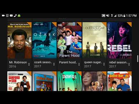 The binge watch section in the Black Entertainment Plex