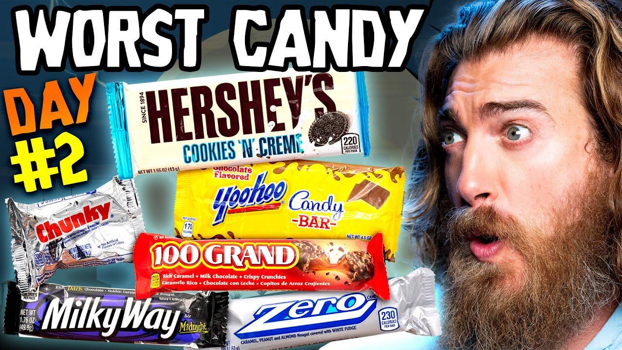 Worst Halloween Candy Bar Taste Test (Day 2)