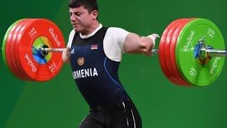 Arm hält Gewicht nicht aus ! Ellenbogen bricht bei Olympia 2016 ! Karapetyan Armenier