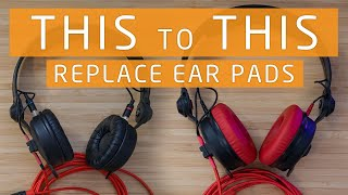 How to Replace Headphone Ear pads for Sennheiser HD 25