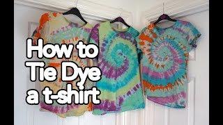 How to tie dye a tshirt | Tie Dye Tutorial using tie dye kit and swirl pattern