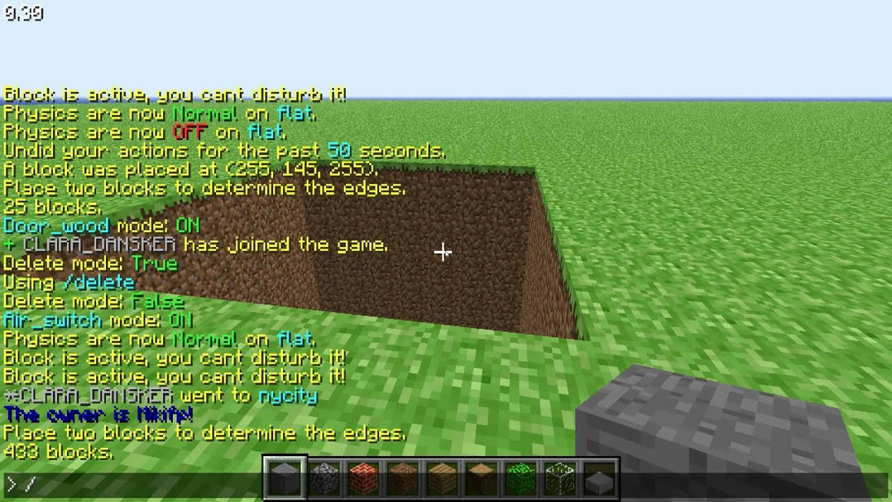 minecraft MCLawl Air switch and doors tut commands YouTube