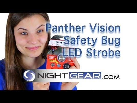 SB-5444 Panther Vision UTILITY LIGHTS LED SAFETY BUG Personal Strobe Light