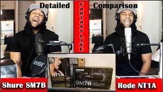Shure SM7B VS. Rode NT1A(Studio Mic SHOOTOUT)   FantasyLIVE