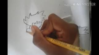 Como dibujar a goku vs sonic