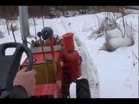 Минитрактор ТЗ 4К 14 двигатель Д 21, прогулка по зимнему лесу .
