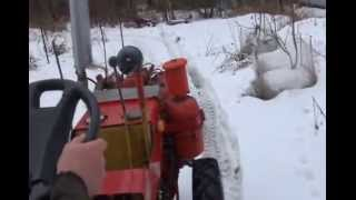 Мінітрактор ТЗ-4К 14 двигун Д 21, прогулянка по зимовому лісі