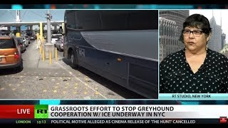 Activists fight Greyhound collaboration with ICE