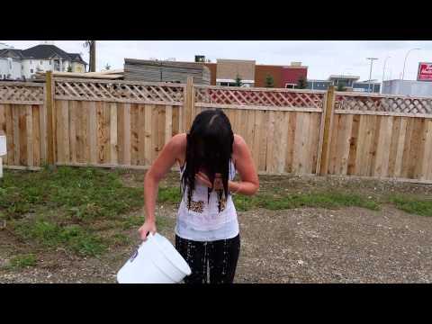 Stephanie doing the ALS ice bucket challenge!