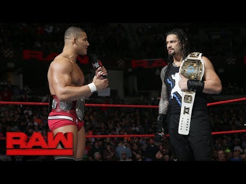 An overzealous Jason Jordan interrupts Roman Reigns: Raw, Jan. 8, 2018 thumbnail