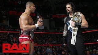 An overzealous Jason Jordan interrupts Roman Reigns: Raw, Jan. 8, 2018