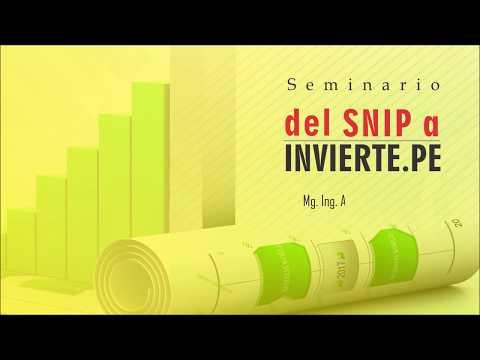 Seminario: DEL SNIP A INVIERTE PERÚ