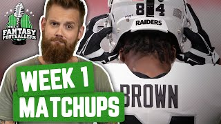 Fantasy Football 2019 - Week 1 Matchups, In-or-Out, Notpportunity - Ep. #769