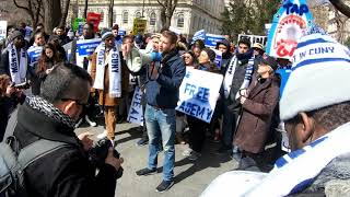 Steven Patzer speaks out to fund the City University of New York