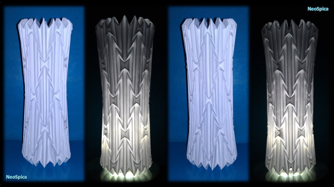 Tutorial 16 cylinder lamp shade folded paper youtube mozeypictures