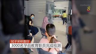 【冠状病毒19】拭子采样首日 3000名学前教育职员完成检测