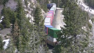 Railfanning Donner Pass March 28, 2010