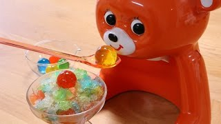 i made Jewel Shaved Ice!;) ball shaped gummy/jelly are strawberry,b...