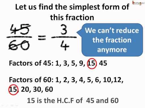 Maths - भिन्नों का सरलतम रूप Fractions in ...