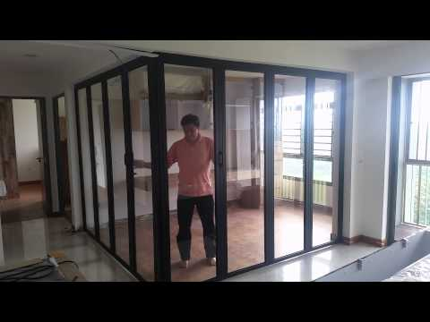 L-SHAPE 90 degrees folding door