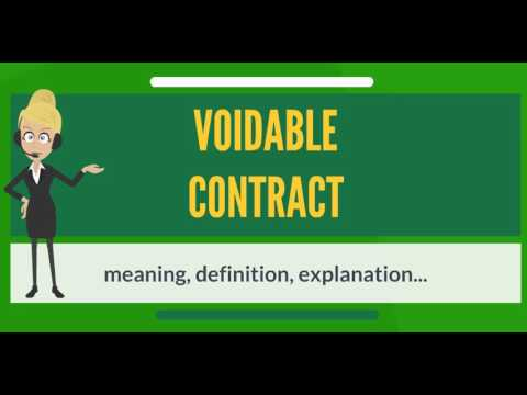 What Is Voidable Contract What Does Voidable Contract Mean