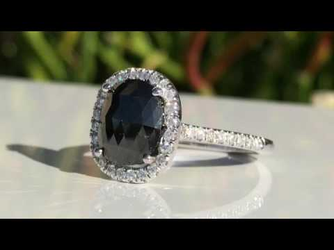 Black Diamond Engagement Ring - Cobymadison Jewelers