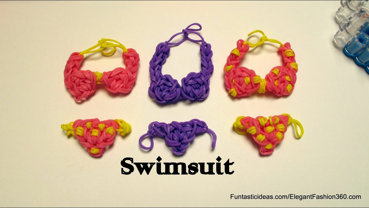 Rainbow Loom Swimsuit Bikini Charm Emoji Emoticon How To