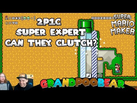 2 Players 1 Controller Super Expert Madness! Mario Maker