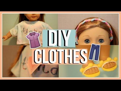 DIY SUMMER CLOTHES | Diy American Girl Doll Tumblr Clothing