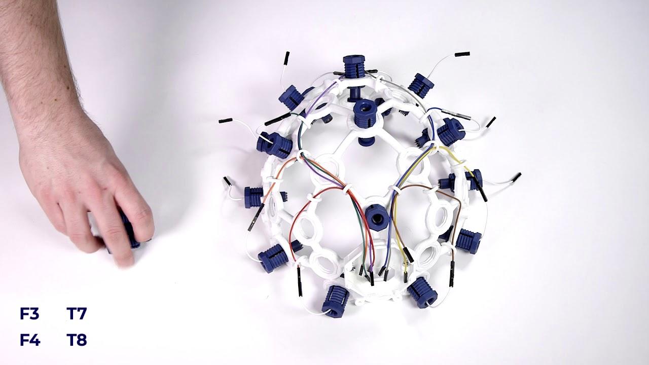 Ultracortex Mark IV EEG Headset Assembly