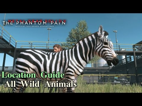 Metal Gear Solid V: The Phantom Pain ★ All Wild Animals [ Location Guide ]