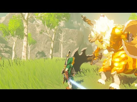 Hero of Time DESTROYS Gold Lynel - Zelda Breath of the Wild