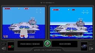 After Burner II (Sega Genesis vs Sega Saturn) Side by Side Comparison