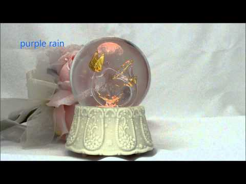 hummingbird snow globe music box