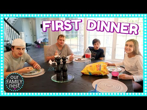 FIRST DINNER IN OUR NEW HOME! MOVING VLOG DAY 7