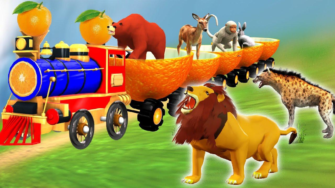 पशु नारंगी ट्रेन Animals Orange Train Ride kahani Hindi Kahaniya हिंदी कहनिया Stories in Hindi
