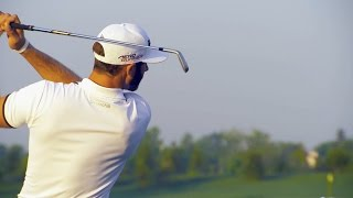 Dustin Johnson's pre-round warm-up routine
