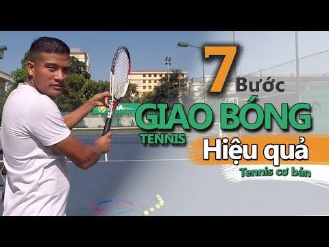 Baixar VNTA Tennis - Bài 1  7 bước để đánh được cú giao bóng tennis (Serve)