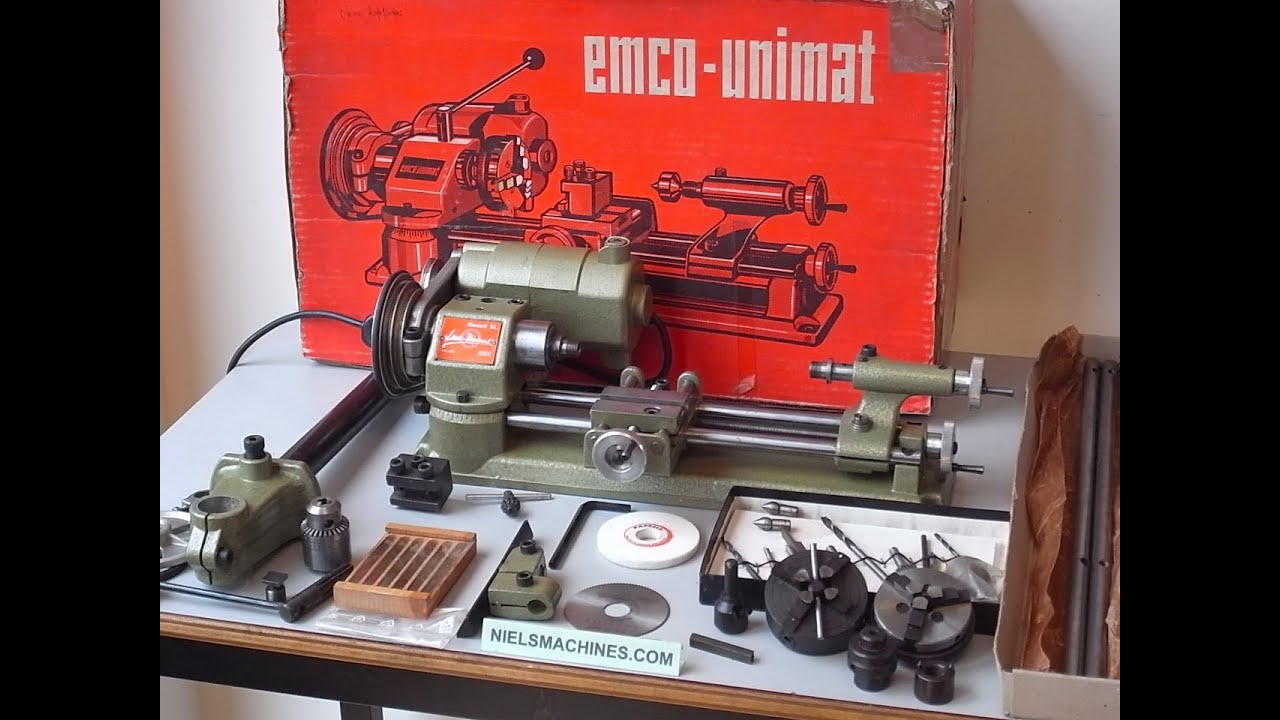 Lathe For Sale >> Emco Unimat SL Lathe With Accessories - YouTube