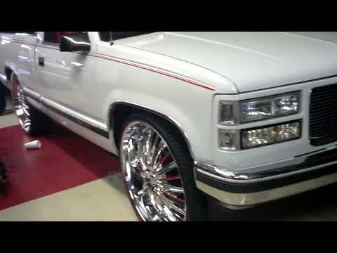 Conversion Van On 26s >> Chevy shortbed on 26s Asanti wheels | Doovi