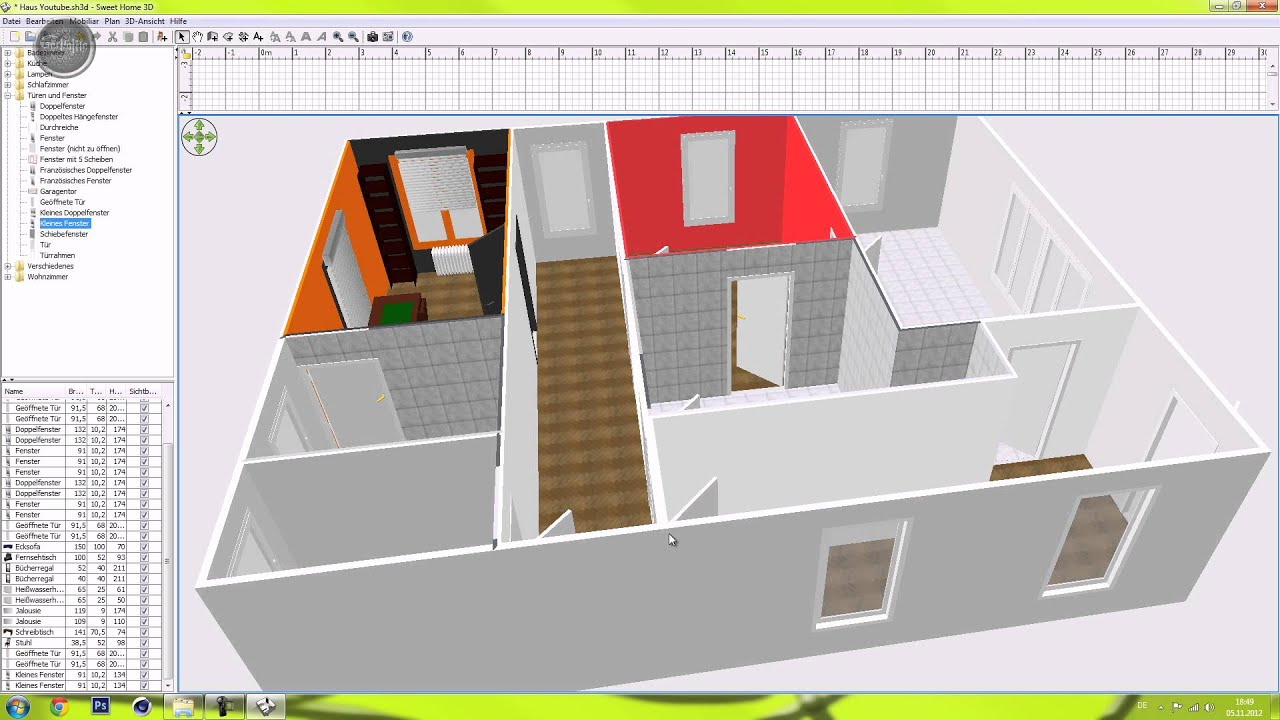 Projekt haus animieren cinema 4d german hd 5 for Sweet home 3d chip