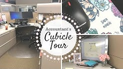 Cubicle Tour | Tour of an Accountant's Cubicle | Private Accountant |