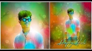 Holi Special Photo Editing Best Colorful Photo Manipulation || Photoshop CC || Picsart